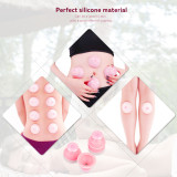CkeyiN Large Size 1pcs Health Care Silicone Cupping Body Massage Vacuum Cupping Cups 65*45*48MM