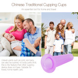 CkeyiN  1pc Vacuum Silicone Cupping Cup Family Body Massage Helper Anti Cellulite Cupping Cups