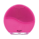 CkeyiN Waterproof Electric Silicone Facial Cleaning Brush Sonic Vibration Facial Cleaner Massager