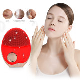 CkeyiN Ultrasonic Wireless-charging Facial Cleansing Brush Silicone Rechargeable Face Massager with Photon