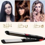CkeyiN Hair Straightener & Hair Curler 2-in-1 Dual Use Flat Iron Curling Iron Hair Styling Tool