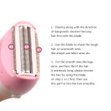 CkeyiN Cordless Rechargeable Hair Remover Facial Hair Razor Trimmer Lady Beauty Health