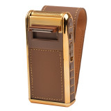 CkeyiN 2-in-1 Electric Reciprocating Rechargeable Men Shaver Razor Vintage Leather Wrapped