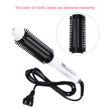 CkeyiN Hot Brush Hair Curly Hair Straight Hair Styling Comb with LCD Display in Tourmaline Ceramic