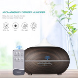 CkeyiN 550ml Electric Ultrasonic Humidifier Air Purifier 7 Color LED Lights Essential Oil Aroma Diffuser with Remote Control