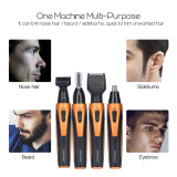 CkeyiN 4 in 1 Electric Nose & Ear Hair Trimmer / Sideburns Trimmer / Eyebrow Trimmer / Beard Trimmer USB Charging Rechargeable Personal Trimmer Kit for Men