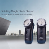 CkeyiN Mini Electric Shaver Rotary Single Blade Razor for Men
