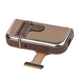 CkeyiN 2 in 1 Electric Reciprocating Rechargeable Men Shaver Razor Vintage Leather Wrapped
