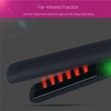 CkeyiN Professional Tourmaline Ceramic Hair Straightener Far-infrared Negative Ions Hair Flat Iron with 100-240V Global Voltage