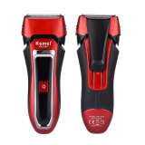 CkeyiN Professional Man's Shaver Rechargeable Razor Waterproof Shaver for Men, Black + Red