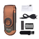 CkeyiN Portable Electric Shaver 3D Floating Rechargeable Razor Single Blade Reciprocating Shaver for Men