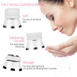CkeyiN Facial Cleaning Brush Multifunctional Waterproof Face Brush with 3 Replaceable Brush Head for Deep Cleaning, Massaging, Removing Blackhead