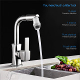 CkeyiN Mini Home Kitchen Bathroom Water Filter Faucet Tap Water Purifier Filter