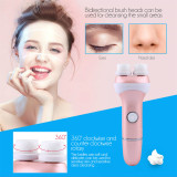 CkeyiN Double Heads Rotating Electric Facial Cleansing Brush Super Soft Face Brush Battery Powered
