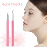 CkeyiN Dual Heads Acne Needle Face Care Tools Blackhead Comedone Acne Blemish Extractor Remover