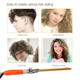 CkeyiN Professional Hair Curling Iron 28mm Electric Curling Wand Hair Styling Tools