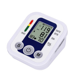 CkeyiN Upper Arm Electronic Digital Blood Pressure Monitor Voice Sphygmomanometer Monitor with Wide-range Cuff