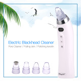 CkeyiN Electric Blackhead Remover Vacuum Suction Blackhead Extractor Clean Tool with 4 Probe Multifunctional Skin Care Device