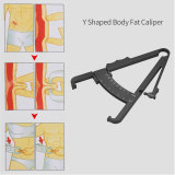 CkeyiN Y Shape Body Fat Caliper Set Body Fat Measurement Tool Measure Tape Included