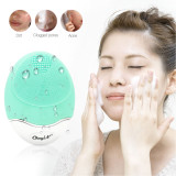 CkeyiN Electronic Ultrasonic Wireless Facial Cleansing Brush Bamboo-Carbon Silicone Face Massager