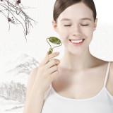 CkeyiN Facial Roller Massage Double Head Natural Jade Face Neck Slimmer Handmade Face Massage