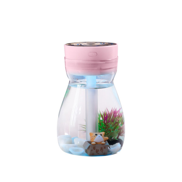 CkeyiN 380mL Portable Air Humidifier Noiseless Humidifier with 7 Color LED