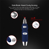 CkeyiN Electric Nose Ear Trimmer for Men Water Resistant Cutter Head Battery Operation Nose Ear Clipper