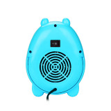 CkeyiN Cartoon Electric Heater Mini Desktop Heater Warm Air Blower for Office Home