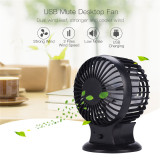 CkeyiN Personal USB Rechargeable Mini Fan Desktop Adjsutable Cooling Fan with 2 Files Wind Speed and Double Wind Leaf