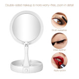 CkeyiN Foldable Makeup Mirror with LED Lights Two-side 1X/10X Magnification Tabletop Cosmetic Mirror