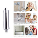 CkeyiN Portable Water Purifier Remove Harmful Substances Household Shower, Hand Basin, Washing Machine Water Filter,Easy Installation
