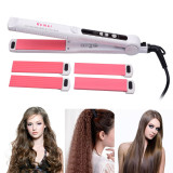 CkeyiN Professional 3 in 1 Hair Straightener Crimper Curler Hair Flat Corrugated Curling Iron Hair Styling Tool
