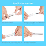 CkeyiN Multifunction Portable Sonic Vibration LED Dental Tool Kit Tooth Stain Eraser Plaque Remover Oral Hygiene Care Tools with 4 Heads