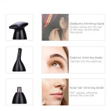 CkeyiN 4 in 1 Waterproof Electric Lady Women Shaver Nose Hair Trimmer Eyebrow Trimmer Sideburns Trimmer Mini USB Charging Hair Removal Beauty Tools
