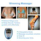 CkeyiN Slimming Massager Acupoint Massage Paste Electromagnetic Massage Machine Digital Display for Muscle Soreness Neuro Numbness Fatigue 4 Pcs