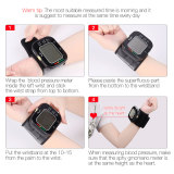 CkeyiN Automatic Wrist Digital Blood Pressure Monitor LCD Display Sphygmomanometer Monitor with Voice Broadcast