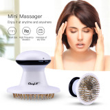 CkeyiN Infrared Electric Massager Head Scalp Neck Massage Relieve Stress Headache Insomnia Massage Claw Head Massager Battery Operation