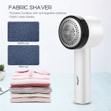 CkeyiN Electric Lint Remover Rechargeable Fabric Shaver with 3-Leaf Stainless Steel Blades Portable Fuzz Remover for Clothes, Blanket, Sweater  Lint Remover, Electric Clothes Sweater Fabric Shaver, Portable, Quickly and Effectively (No.JD057)