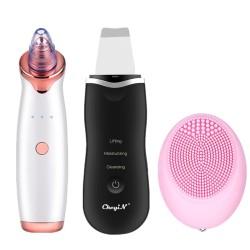 CkeyiN Blackhead Remover Vacuum + At-Home Skin Spatula + Precision Pore Cleansing Pad