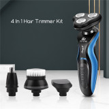 4 In 1 Men Electric Shaver Nose Trimmer Rechargeable Electric Razor Shaving Machine Beard Trimmer Face Cleaning Brush