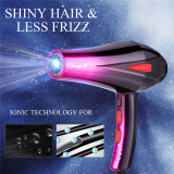 CkeyiN 4000W Hair Dryer Fast Styling Blow Dryer Hot And Cold Adjustment With Two Nozzles