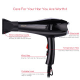 CkeyiN Professional Hair Dryer Blow Dryer with 2 Speed and 3 Heat Settings 5000W