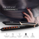 CkeyiN 2 in 1 Far-infrared Hair Straightener Flat Iron Hair Curler Professional Tourmaline Ceramic Anion Hair Styling Tool