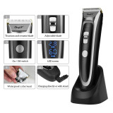 CkeyiN Professional Rechargeable Cordless Hair Clipper Men Electric Hair Trimmer LED Display Hair Cutting Machine