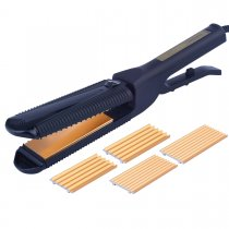 CkeyiN 3 in 1 Interchangeable Plates Hair Straightener Hair Curler Corn Perm Splint Hair Styling Tools