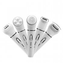 CkeyiN 5-in-1 Facial and Body Beauty Tools Kit Epilator + Cleansing brush + Massager + Lady shaver + Callus remover