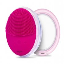 CkeyiN Waterproof Silicone Electric Facial Cleaning Brush Sonic Vibration Facial Cleaner with Mirror