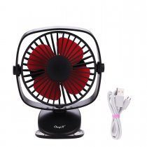 CkeyiN Mini Fan Electrical Personal Portable Desk Table Fan with USB Rechargeable Clip-On-Fan Powerful Energy Electric Fan for Office Room Outdoor Traveling