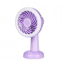 CkeyiN USB Rechargeable Desktop Mini Fan with LED Light and 2 Files Wind Speed Rotatable Head Cooling Fan