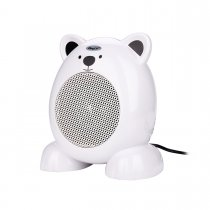 CkeyiN Cartoon Bear Space Heater Noiseless-design Desk Heater Handy Air Heater for Room Office Home